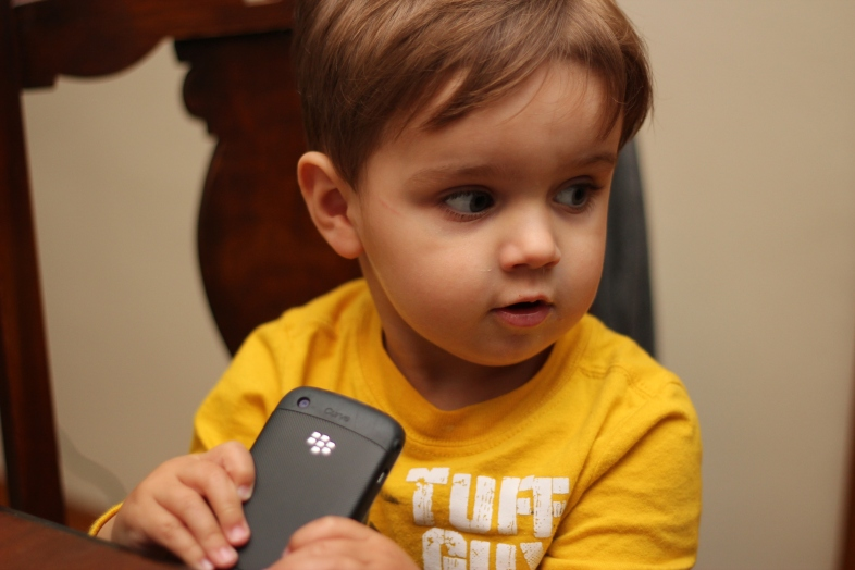 Blackberry vs. iPhone 5 (from a Toddler's perspective)